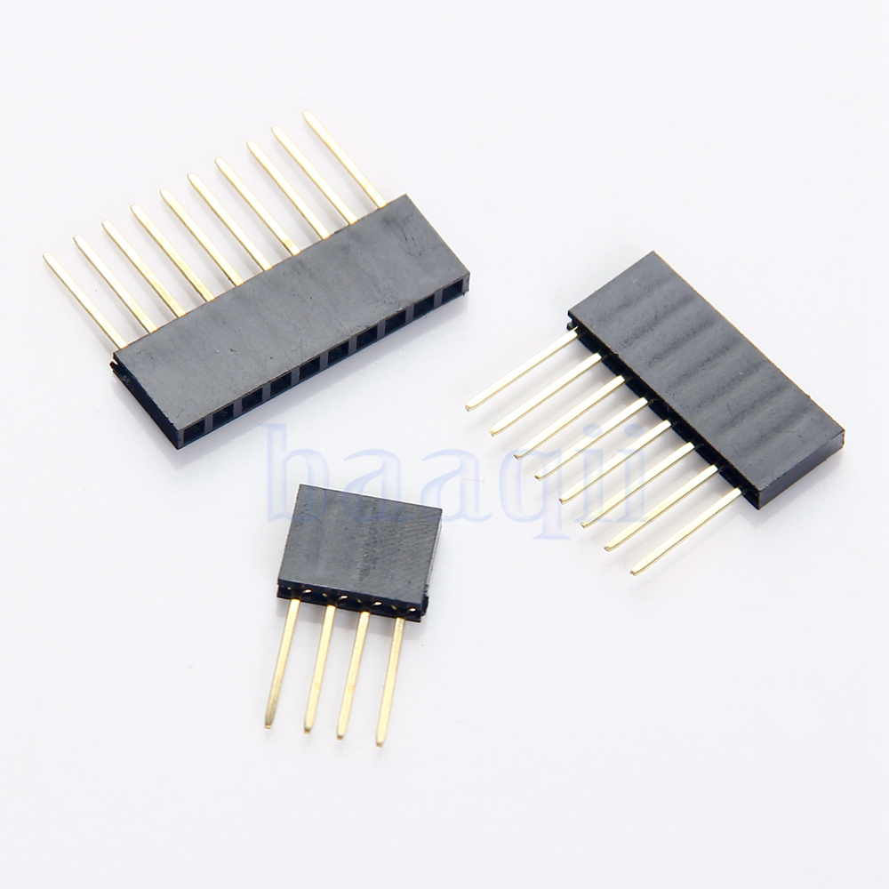 10Pcs 4/8/10Pin Female Tall Stackable Header Connector