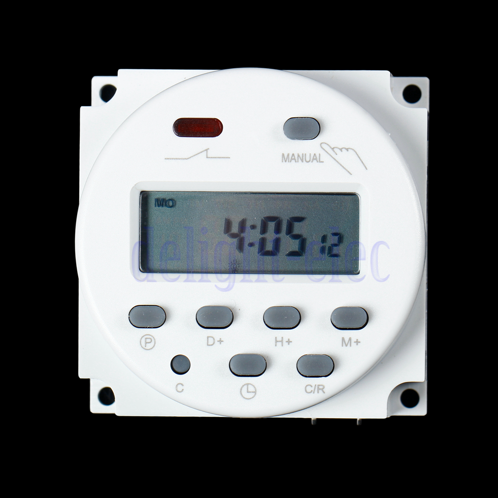 Digital Power Timer : New lcd digital power programmable timer dc ac v a