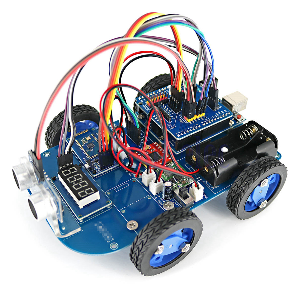 N gear motor toy wd bluetooth smart robot car chassis