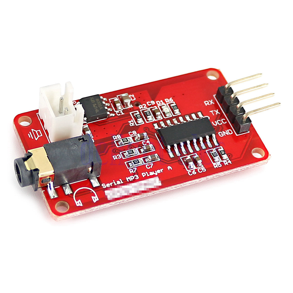 Uart control serial mp music player module with w
