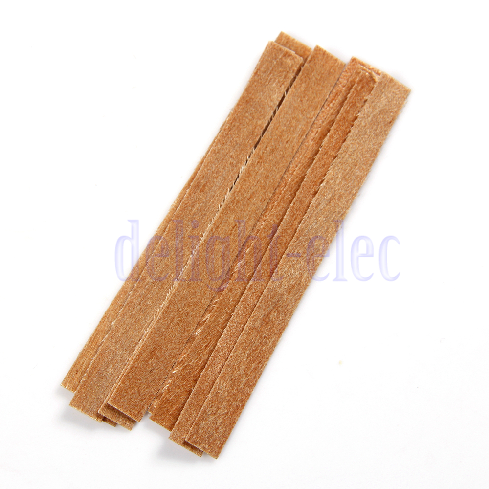 Wood Candle Wicks Diy: 10 X Wooden Candle Wick DIY Candle Making Supplies Candle