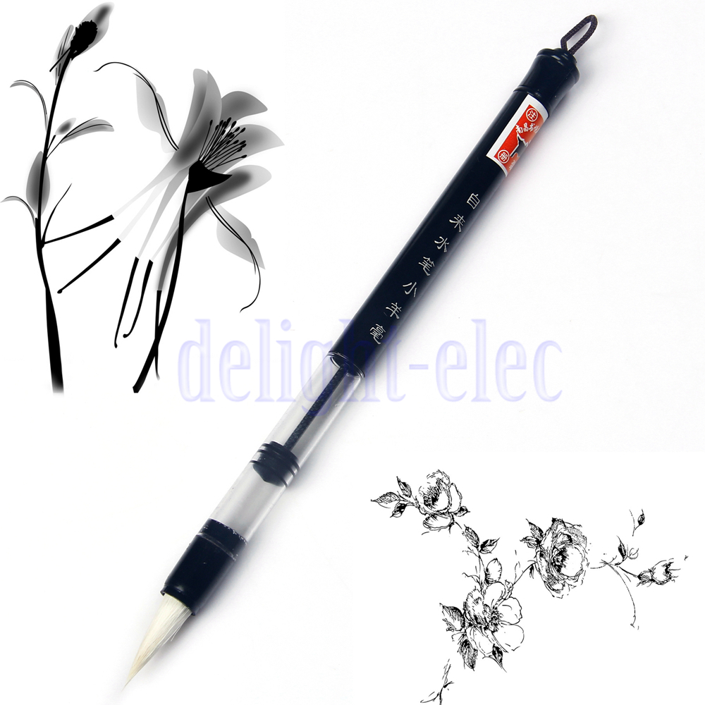 6 pc set piston water brush chinese japanese calligraphy Chinese calligraphy pens