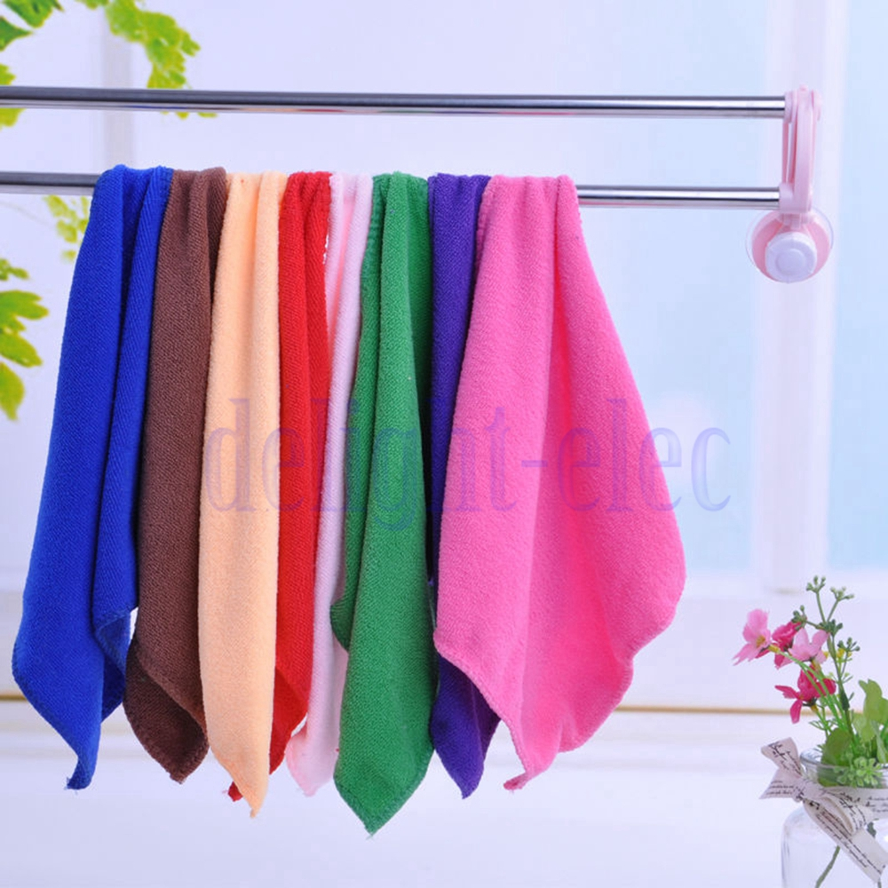 1Pc New Microfiber Cleaning Hand Wash Towels Rags Kitchen
