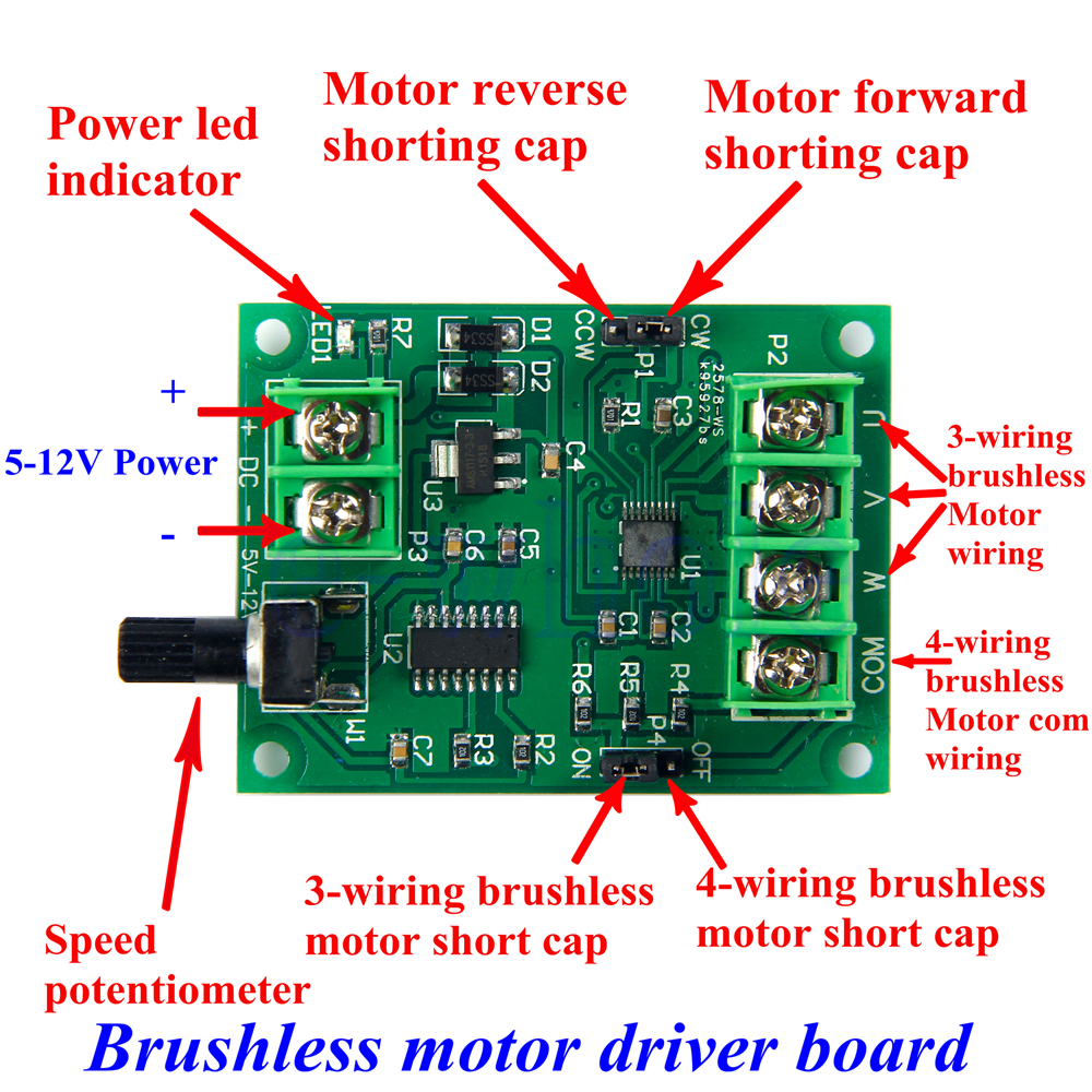 5v 12v dc brushless motor driver board module controller. Black Bedroom Furniture Sets. Home Design Ideas