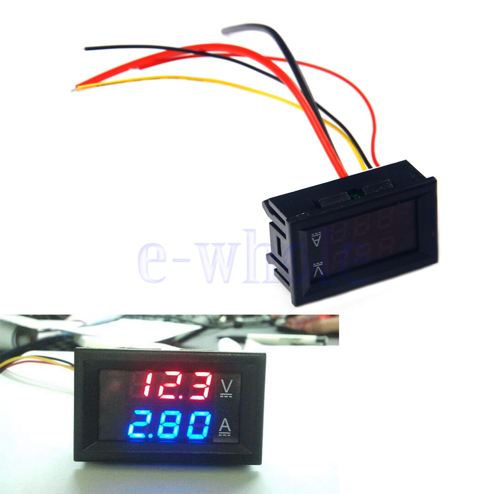 Small Digital Voltmeters Dc : New v a dc digital voltmeter ammeter led amp volt