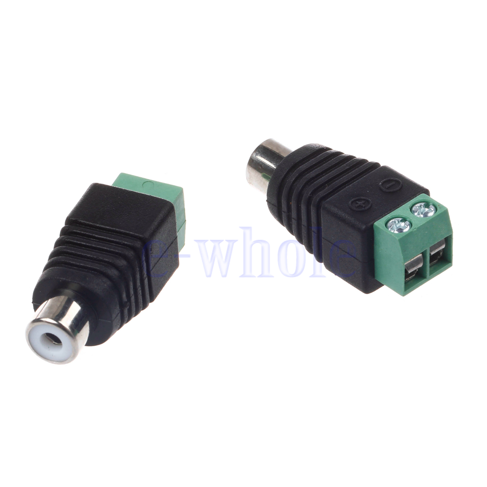 Speaker Wire To Rca Plug Adapter Converter Cable