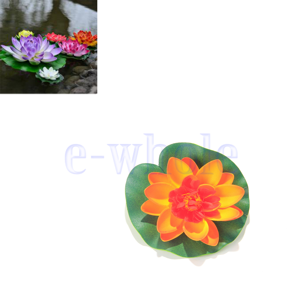 3 artificial floating lotus water floating flower garden for Garden pool ornaments