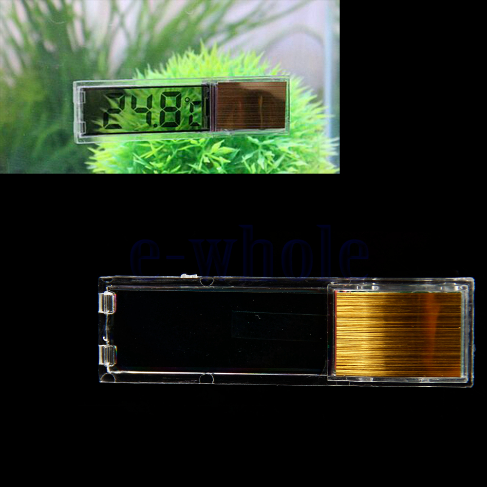 Lcd 3d crystal digital electronic aquarium thermometer for Spring water for fish tank