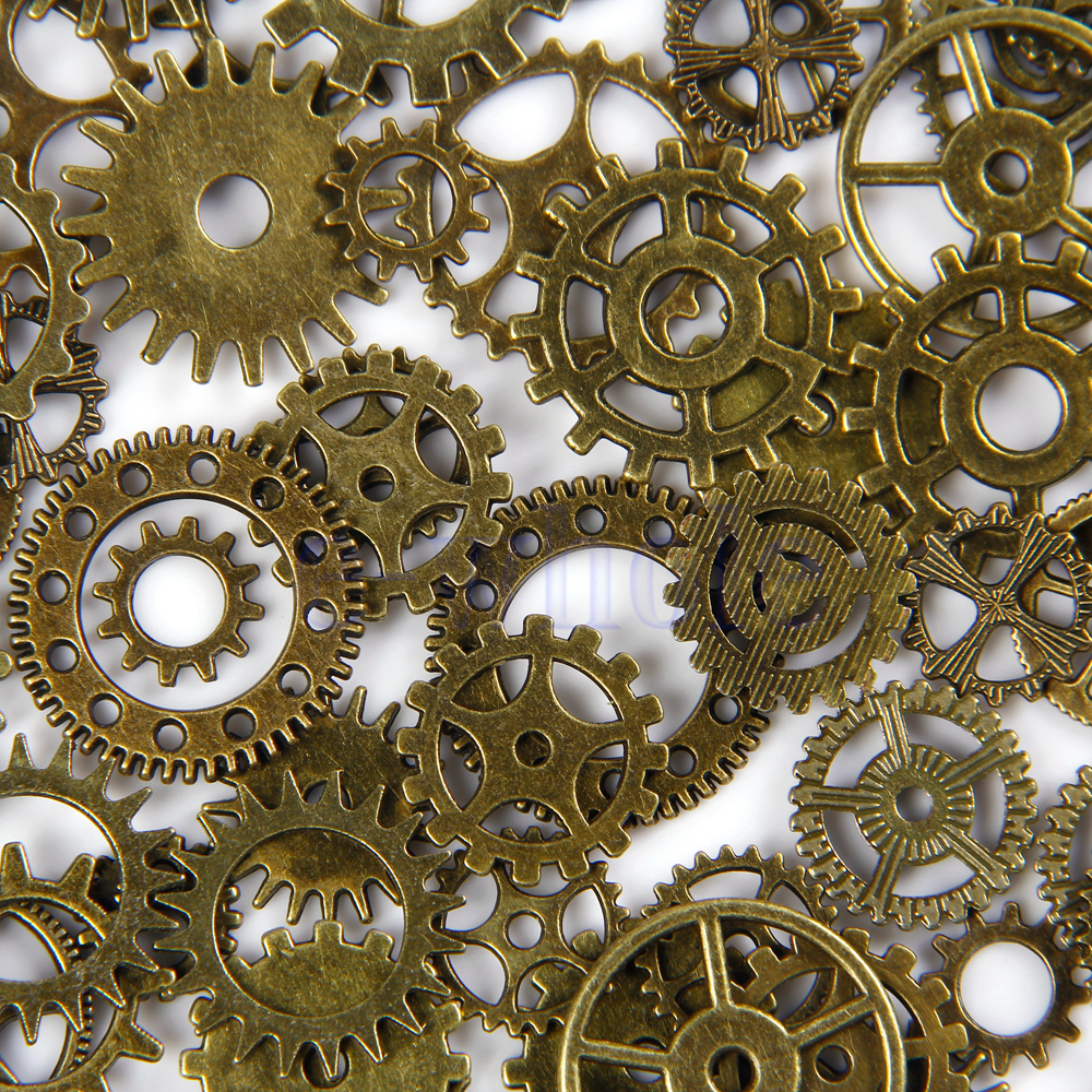Ring In The Steampunk Decor To Pimp Up Your Home: 20pcs Bronze Watch Parts Steampunk Cyberpunnk Cogs Gears