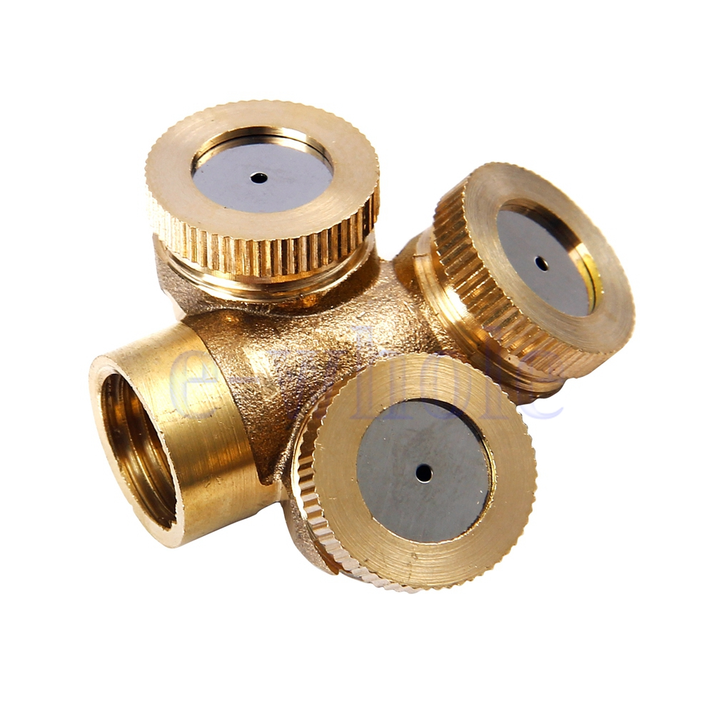Hole brass agricultural misting spray nozzle garden