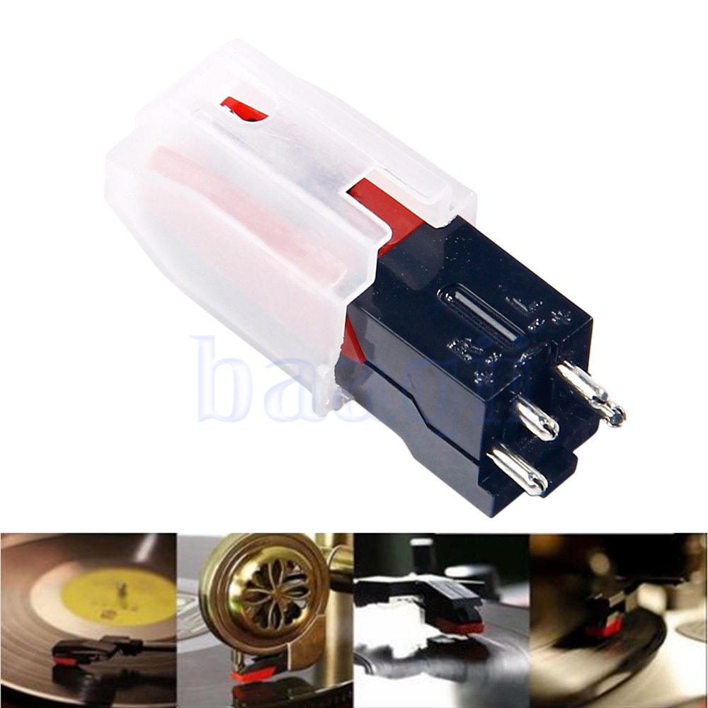 3X Turntable Diamond Stylus Needle for LP Record Player Phono Ceramic CartrFDUS