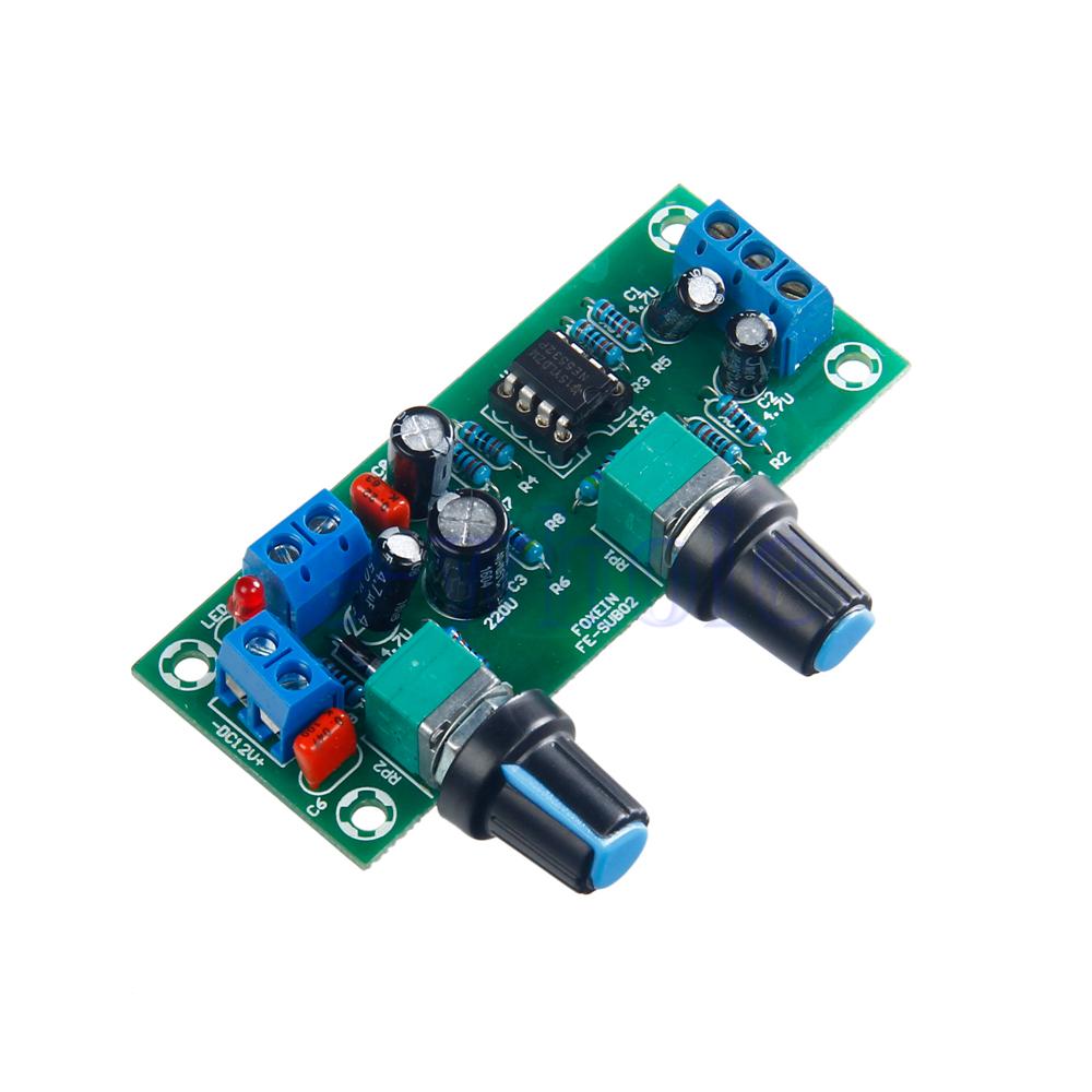 Filtre passe-bas Bass Subwoofer Pr/éamplificateur Amplificateur Board Single DC Power NE5532 Filtre passe-bas Bass Pr/éamplificateur Bass