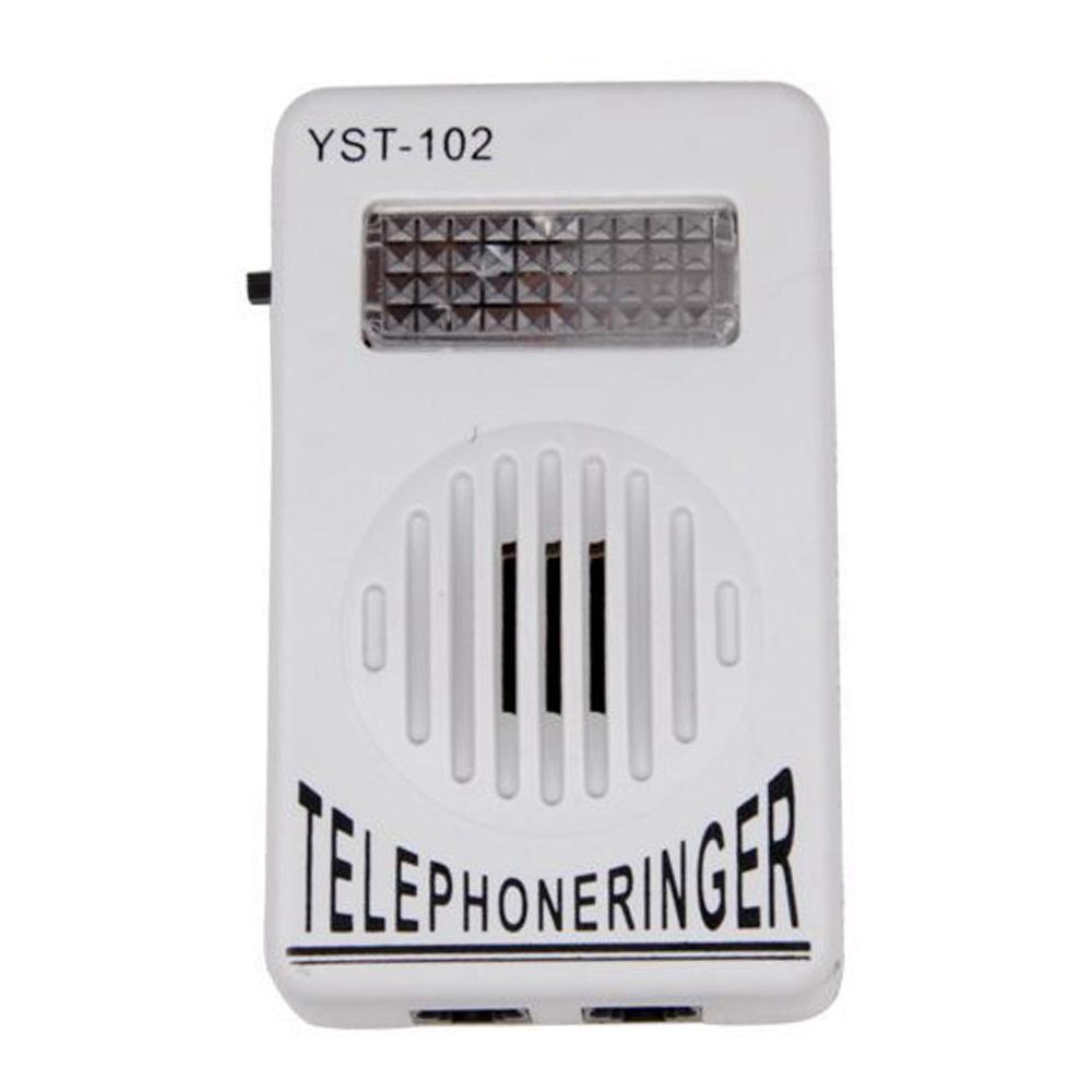 Telephone Phone Amplifier Strobe Light Flasher Bell Extra-Loud Ringer Sound TZ