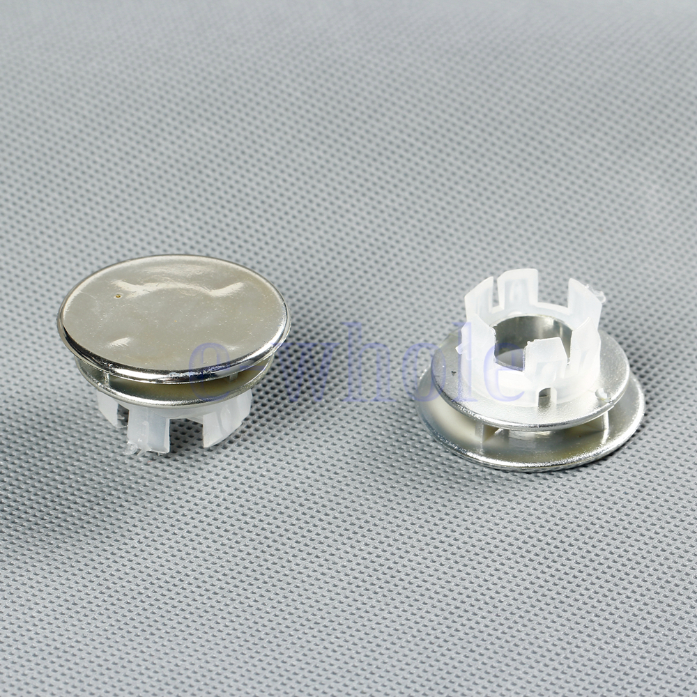 2x Bathroom Round Overflow Covers For Basin Sink Chrome