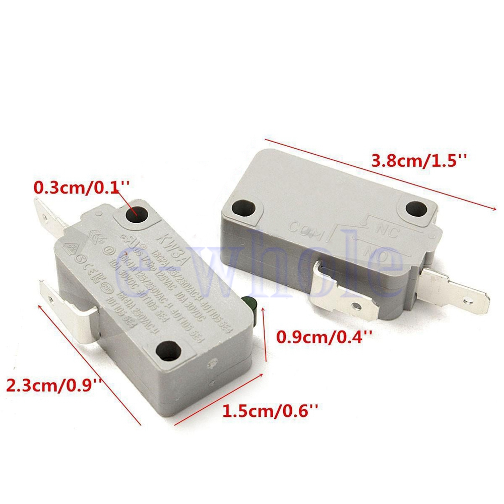 2pcs Microwave Oven Kw3a Door Micro Switch Normally Open For Dr52 Microswitch 125v 250v